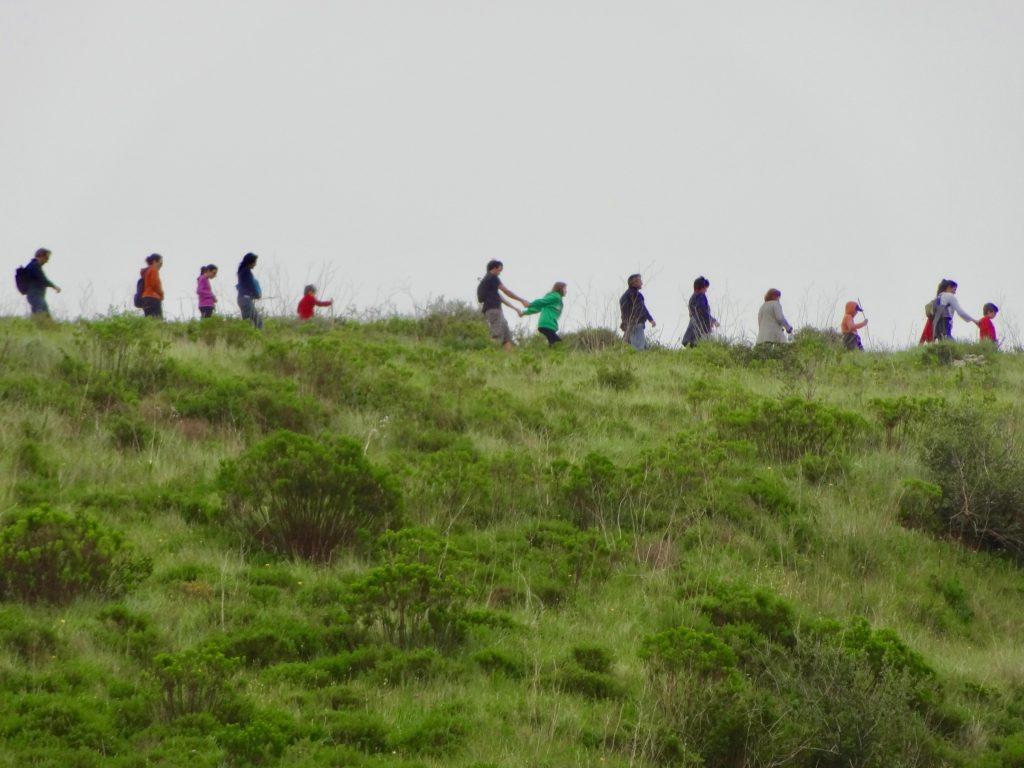 Hikers at Aldeia Mata Pequena